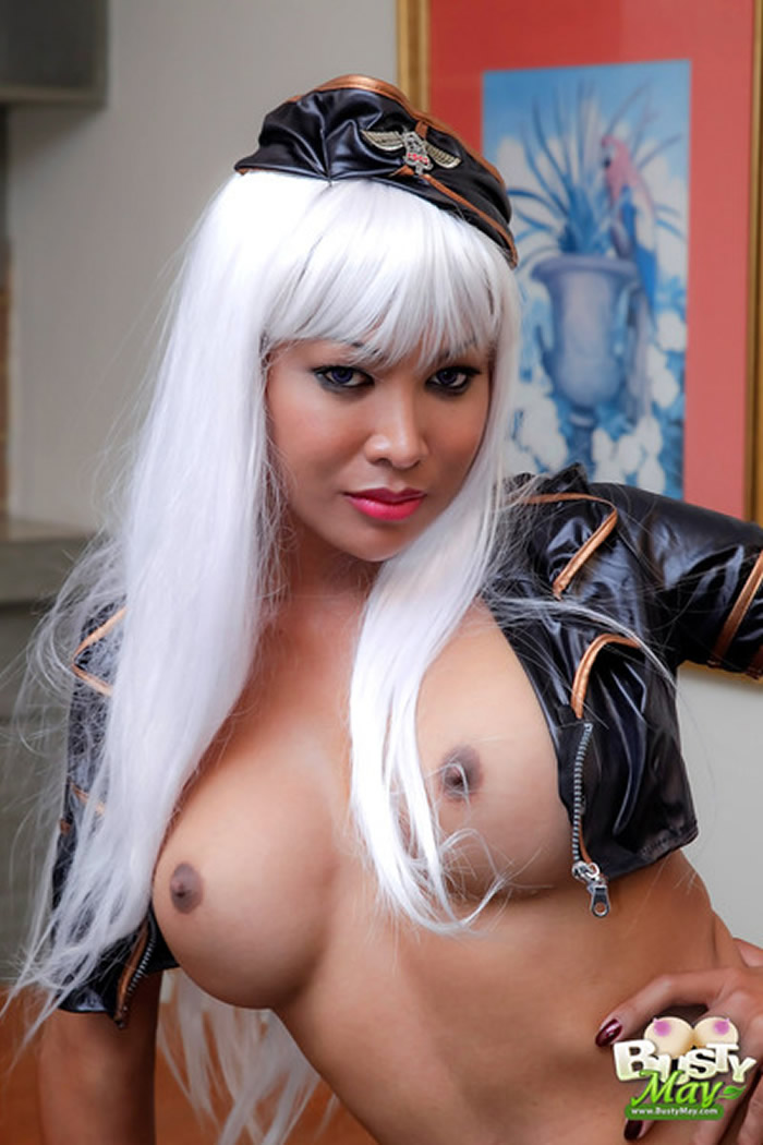 Ladyboy Busty May Brown Nipples